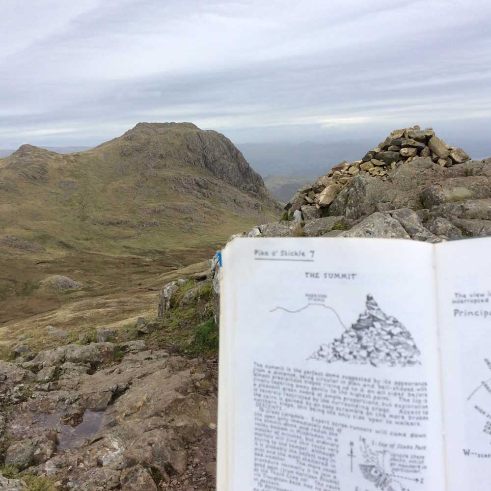 The view from Pike O'Stickle summit to Harrison Stickle